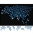 map dot eurasia vector image vector image