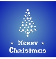 Christmas and New Year blue background with vector image
