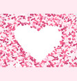 Abstract repeating heart shape background vector image