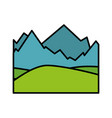 isolated snowy mountains view vector image