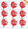 Label sale sticker tag - - EPS10 vector image vector image