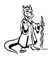 black and white lizard vector image vector image