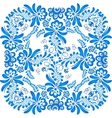 Blue floral ornament in gzhel style vector image