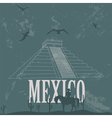 Mexico landmarks Retro styled image vector image