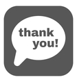 The thank you icon Thanks symbol Flat vector image