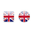Icons with Union Jack flag vector image