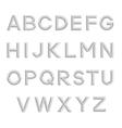 Decorative isolated alphabet vector image