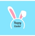 happy easter with rabbit ears mask vector image