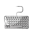 keyboard computer isolated icon vector image
