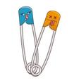 metal hooks comic character isolated icon vector image