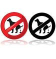 No dog poop vector image