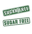 Realistic Sugar free grunge rubber stamp vector image