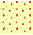 Yellow and red apples on light background vector image