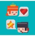 game avatar princess knight headset star heart vector image