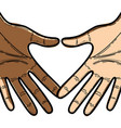 two hands near to celebrate special day vector image