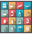 icons farm food in flat design vector image vector image