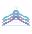 Three hangers icon in vector image