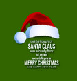 Santa Claus card vector image