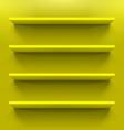 Shelves vector image