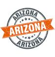 Arizona red round grunge vintage ribbon stamp vector image