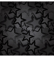 Grunge rock star background brush smear stars vector image