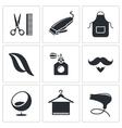 Hair salon icon set vector image