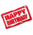 happy birthday stamp vector image
