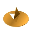 Metal pushpin icon realistic style vector image