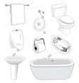 sanitary ware bathroom vector image