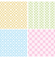 set of 4 baby patterns vector image