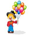 merry clown vector image vector image