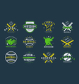 Badges set of baseball team vector image