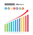 Business bar percentage chart infographic set on vector image