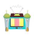 A view of television vector image vector image