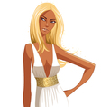 stylish blond woman vector image