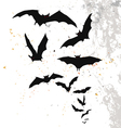 Halloween background with flying bats vector image vector image
