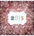2015 year card design vector image