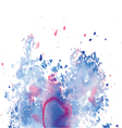 Abstract watercolor splash background vector image