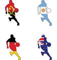 basketball colors of Angola Argentina Australia Ge vector image vector image