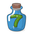 Seven scientific bottle for laboratory research vector image