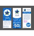 set of vertical banners for your business ad to vector image