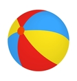 Colorful ball icon isometric 3d style vector image