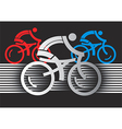 Abstract cyclist racers vector image