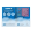 Blue booklet A4 universal Bright informational vector image