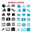 Business finance and office flat icons vector image