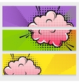 Comic Sound Effects Banners Set vector image