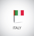 italy flag pin vector image