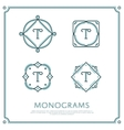 Letter T Monogram vector image