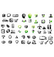 mega collection of pictograms vector image