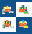 online shopping delivery of goods store buying vector image